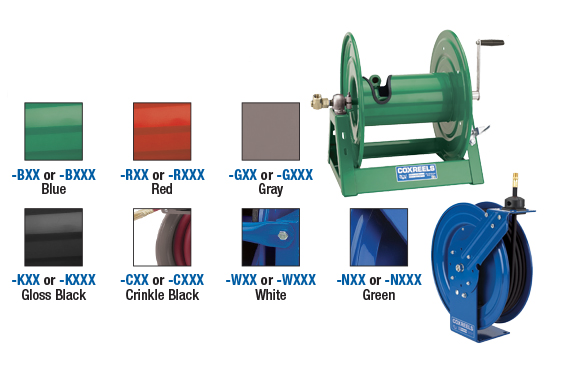 Powder Coat Options for Coxreels