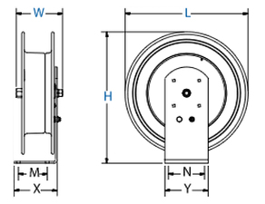 Dimensions for EZ-Z Series EZ Coil Reels from Coxreels