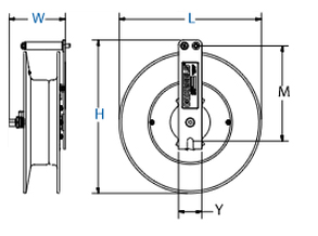 Dimensions for S Series Spring Driven Reels from Coxreels